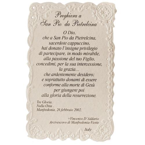 Santino San Pio da Pietrelcina con preghiera 2
