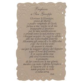 Estampa San Giuseppe con oración (italiano) s2