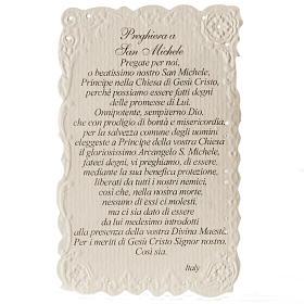Image pieuse Saint Michel Archange avec prière s2