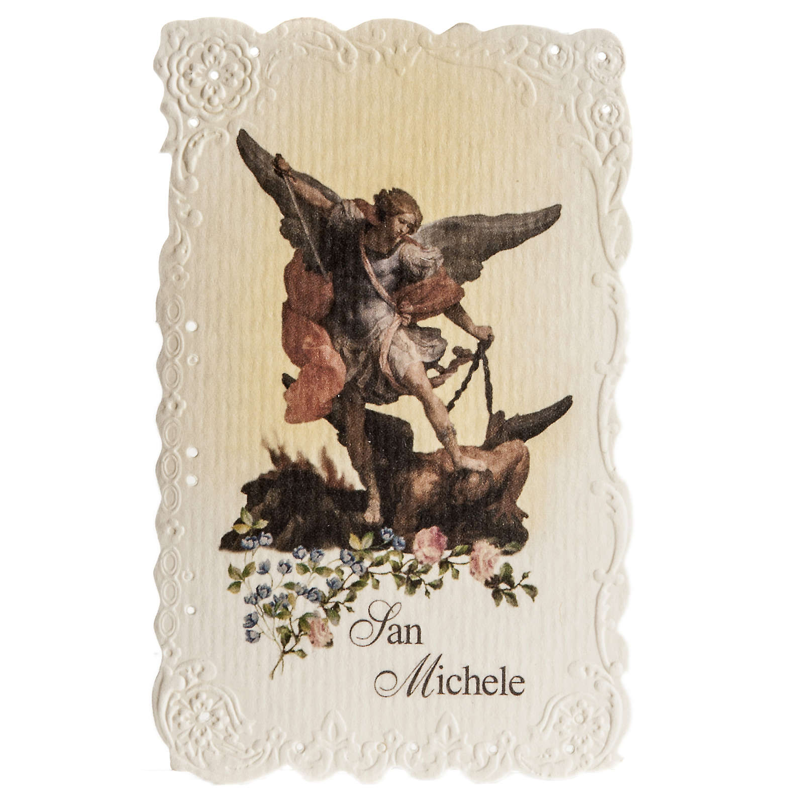 Santino San Michele Arcangelo con preghiera 4