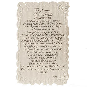 Santino San Michele Arcangelo con preghiera s2