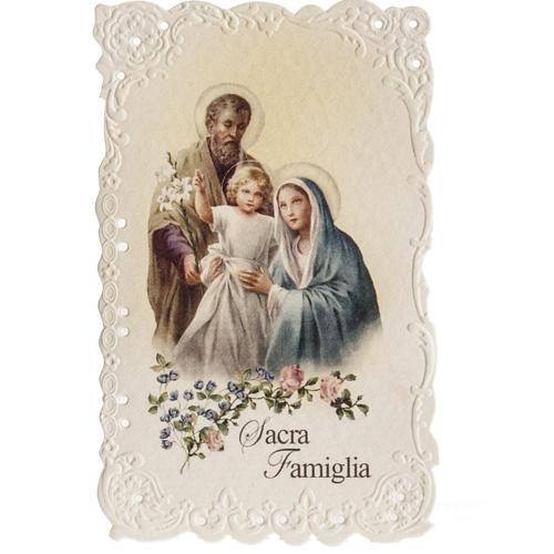 Santino Sacra Famiglia con preghiera 1