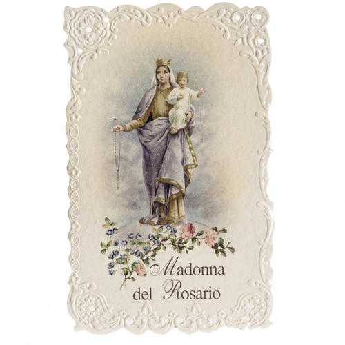 Estampa Virgen del Rosario 1