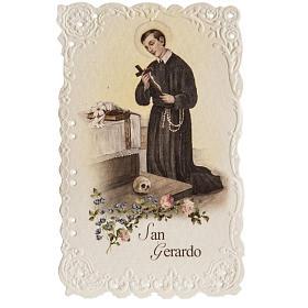 Santino San Gerardo con preghiera s1