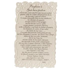 Santino Gesù il Buon Pastore con preghiera s2