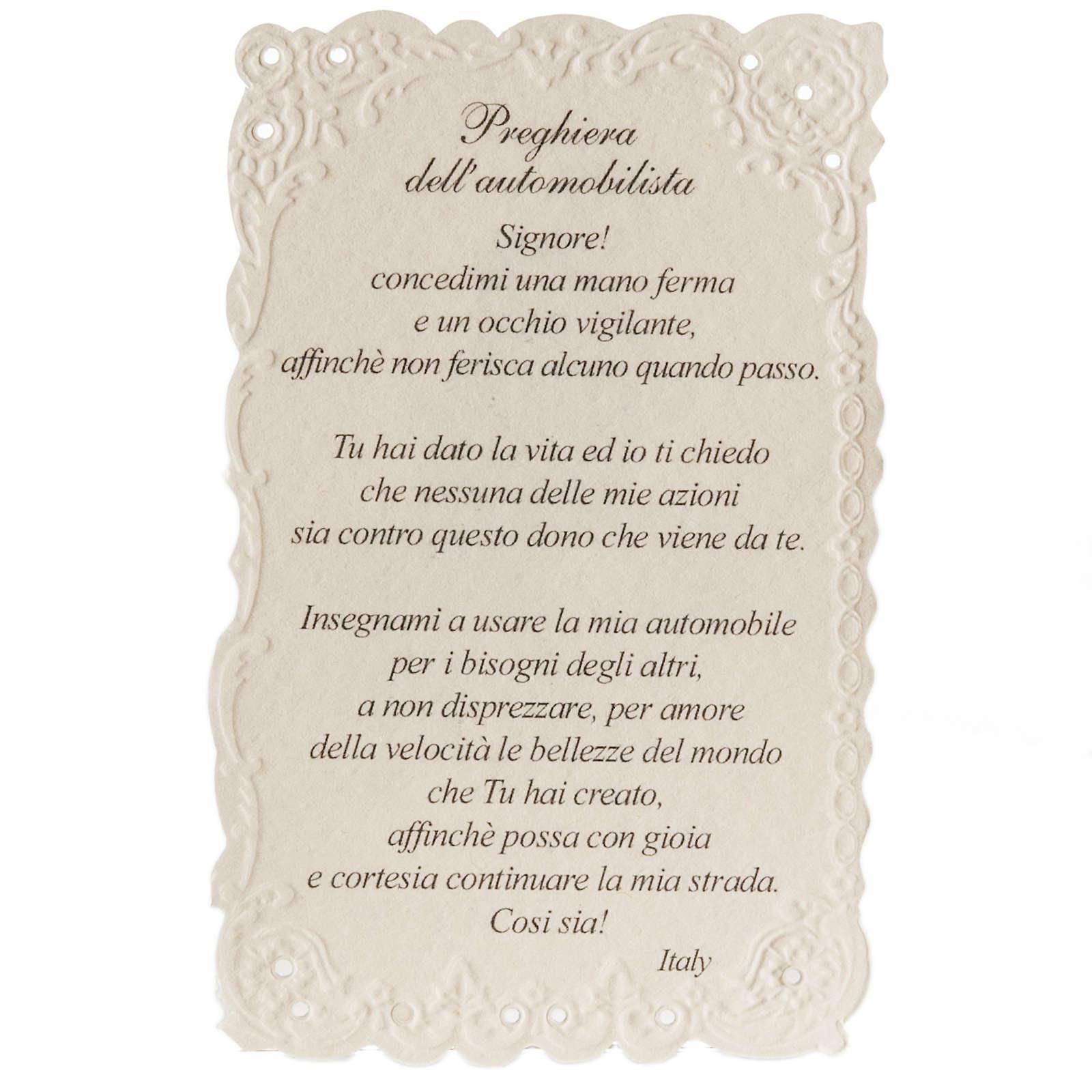 Estampa San Cristóbal con oración (italiano) 4