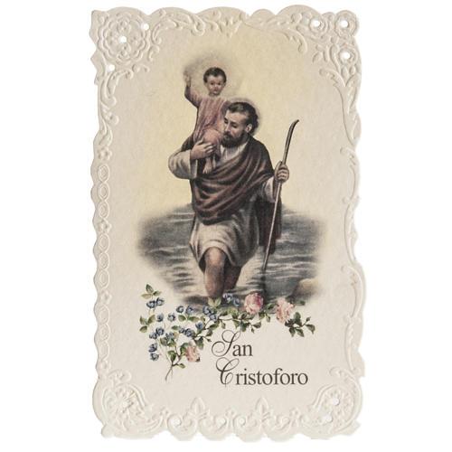 Estampa San Cristóbal con oración (italiano) 1