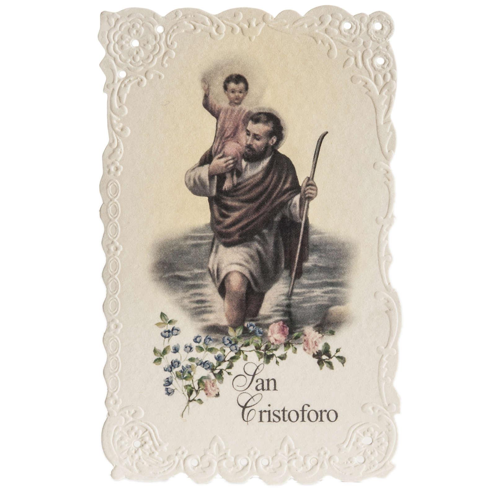 Santino San Cristoforo con preghiera 4