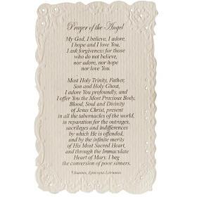 Estampa Our Lady of Fatima con oración (inglés) s2