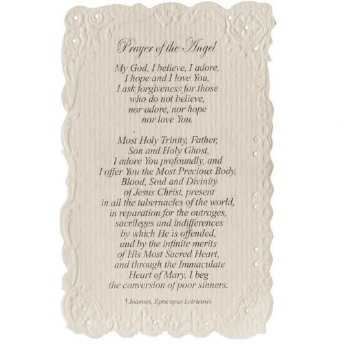 Estampa Our Lady of Fatima con oración (inglés) 2