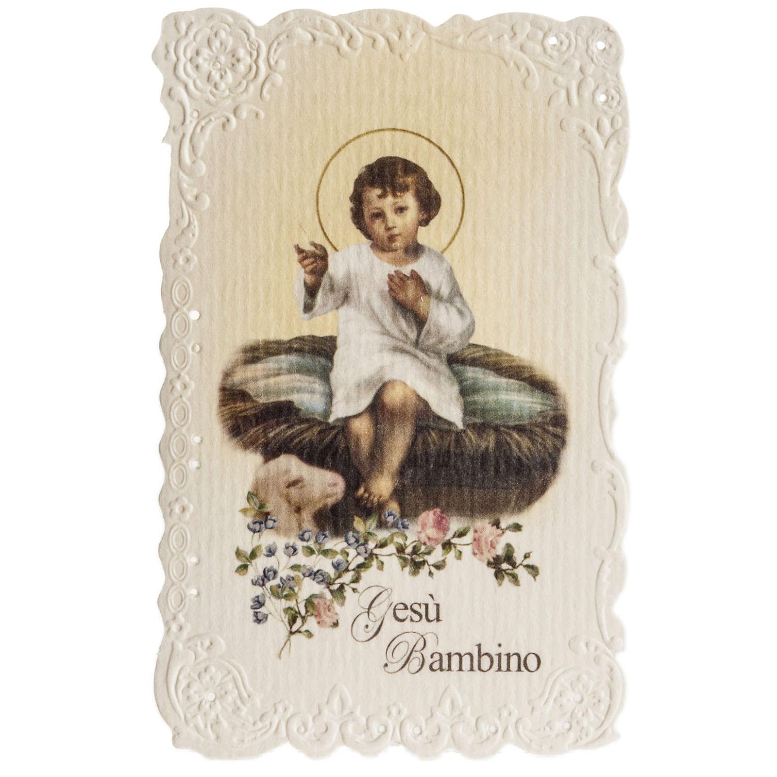 Santino Gesù Bambino con preghiera 4