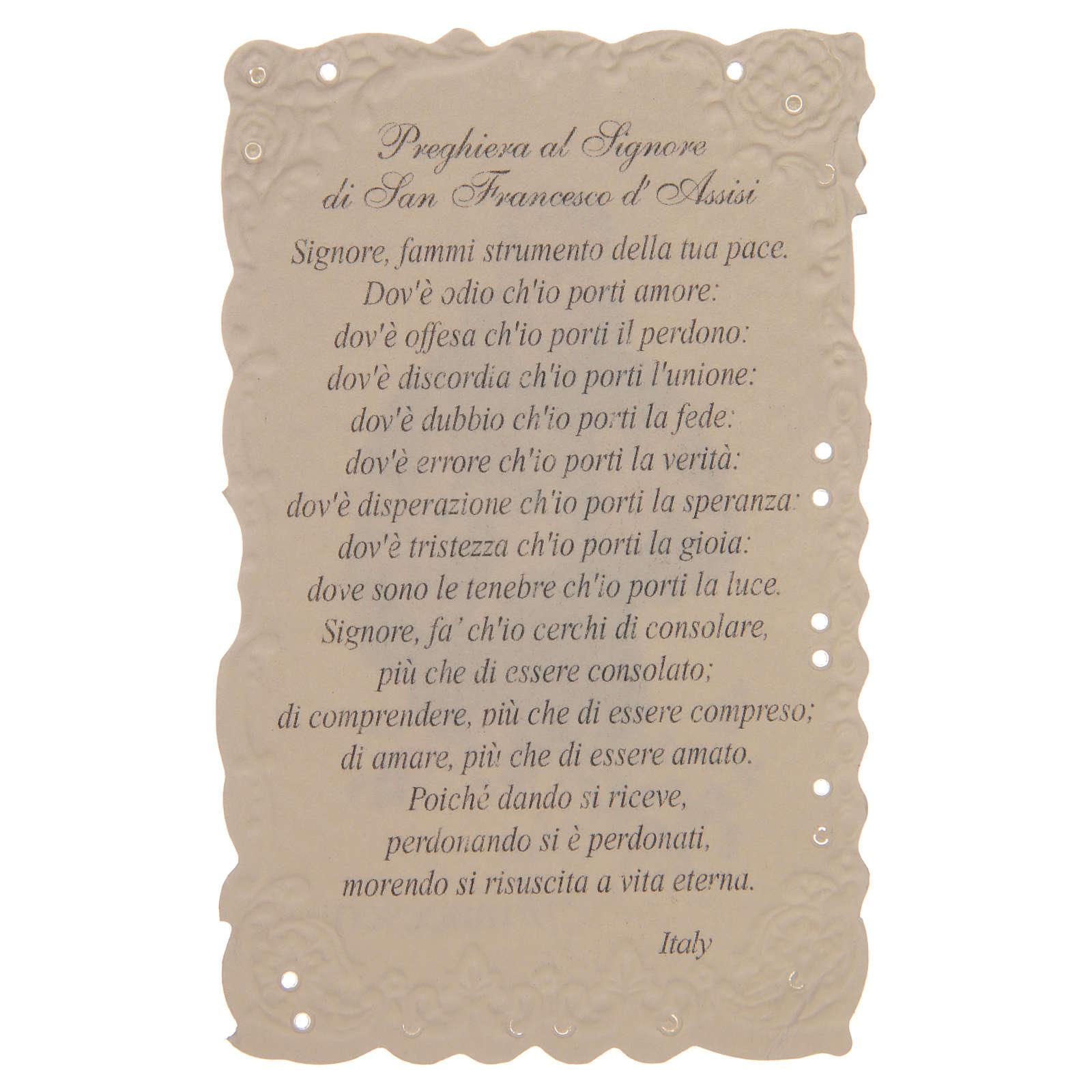 Estampa San Francesco con oración (italiano) 4
