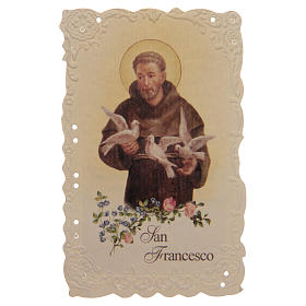 Estampa San Francesco con oración (italiano) s1