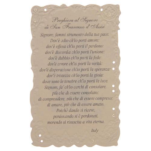 Estampa San Francesco con oración (italiano) 2