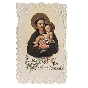 Santino Sant'Antonio con preghiera s1