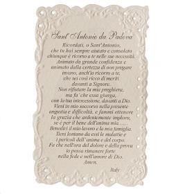 Santino Sant'Antonio con preghiera s2