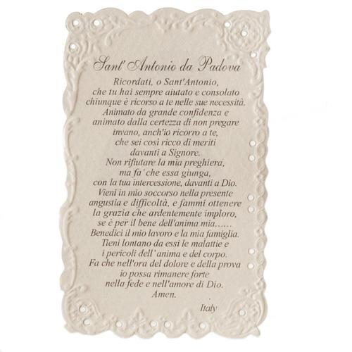Santino Sant'Antonio con preghiera 2