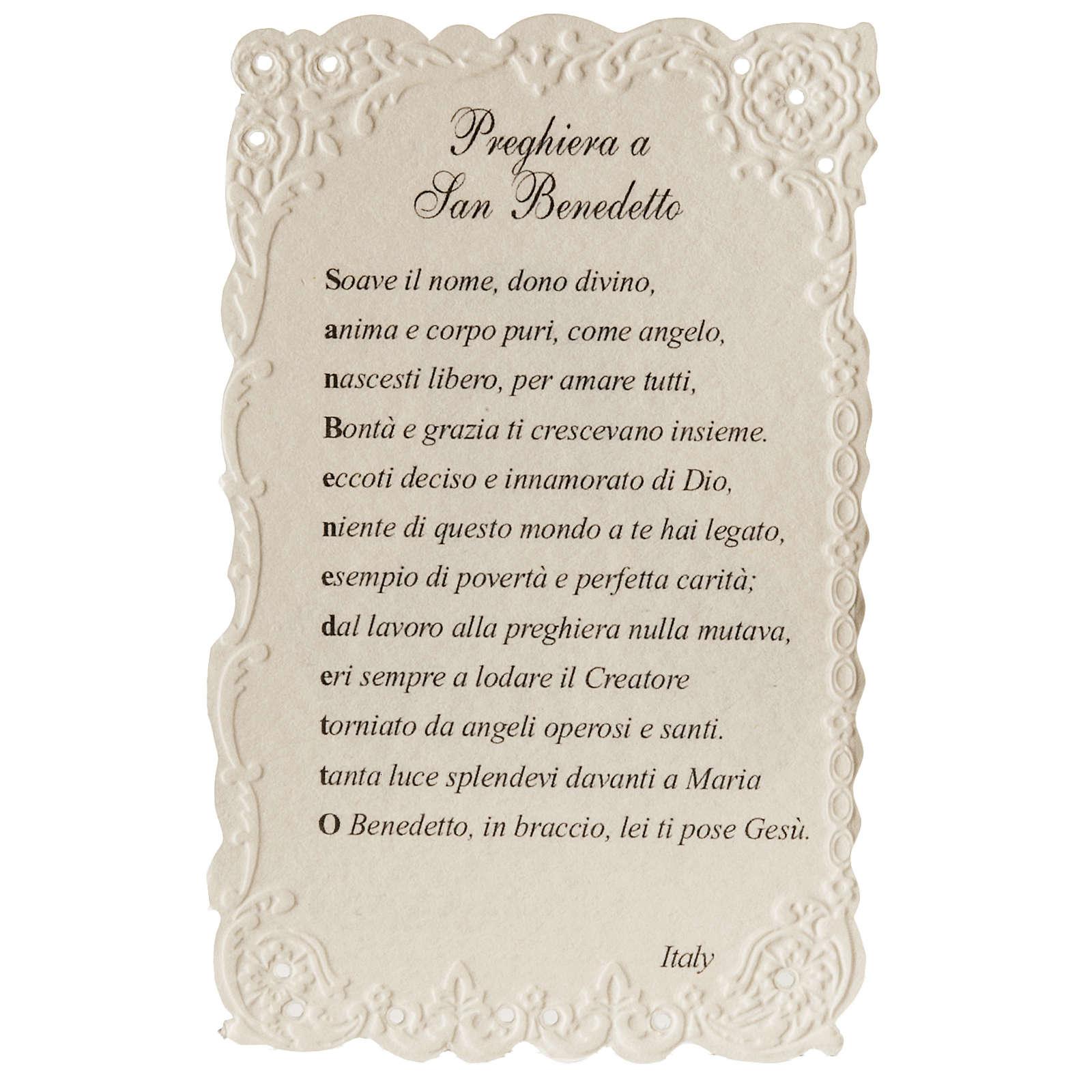 Santino San Benedetto con preghiera 4