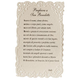 Holy card, Saint Benedict with prayer s2