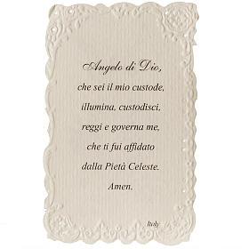 Estampa Ángel de la Guarda con oración italiano s2