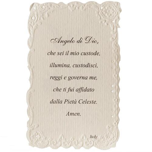 Estampa Ángel de la Guarda con oración italiano 2