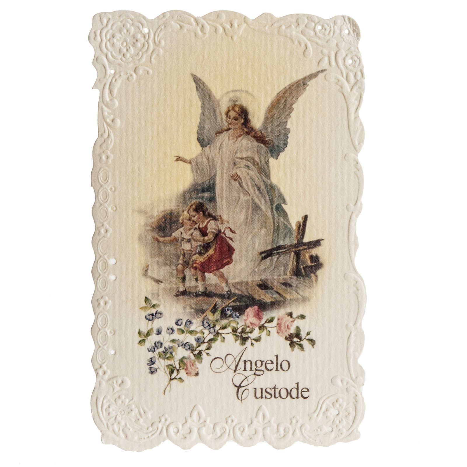 Holy card, Guardian Angel with prayer 4