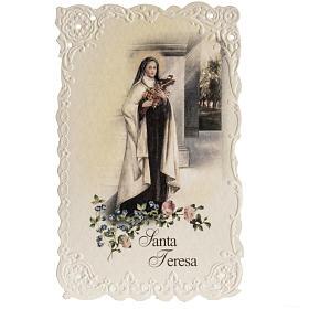 Estampa Santa Teresa con oración Italiano s1