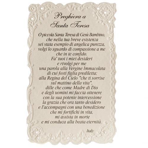Estampa Santa Teresa con oración Italiano 2