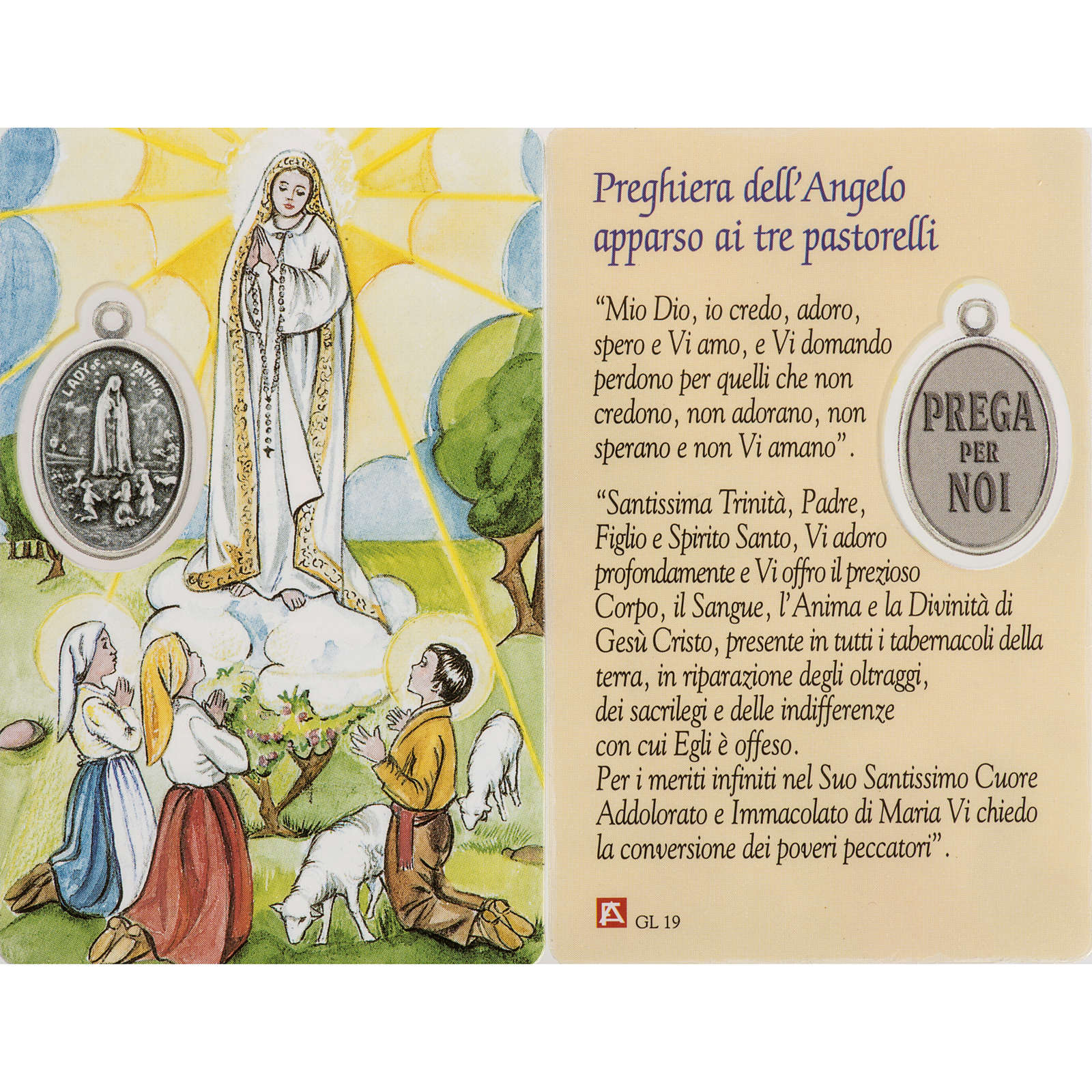 Image pieuse Notre-Dame de Fatima avec prière plastifiée 4