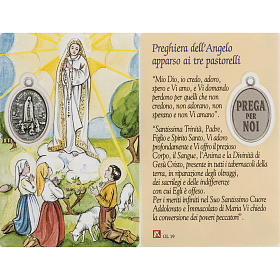 Holy card, Our Lady of Fatima with prayer, laminated s1