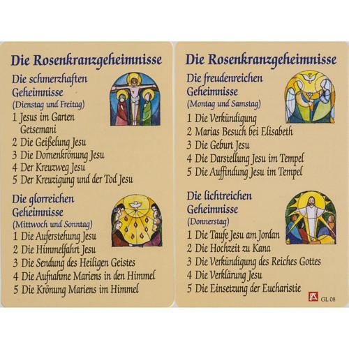 Image de dévotion Benoît XVI plastifiée 1