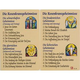 Holy card, Saint Benedict XVI laminated s1