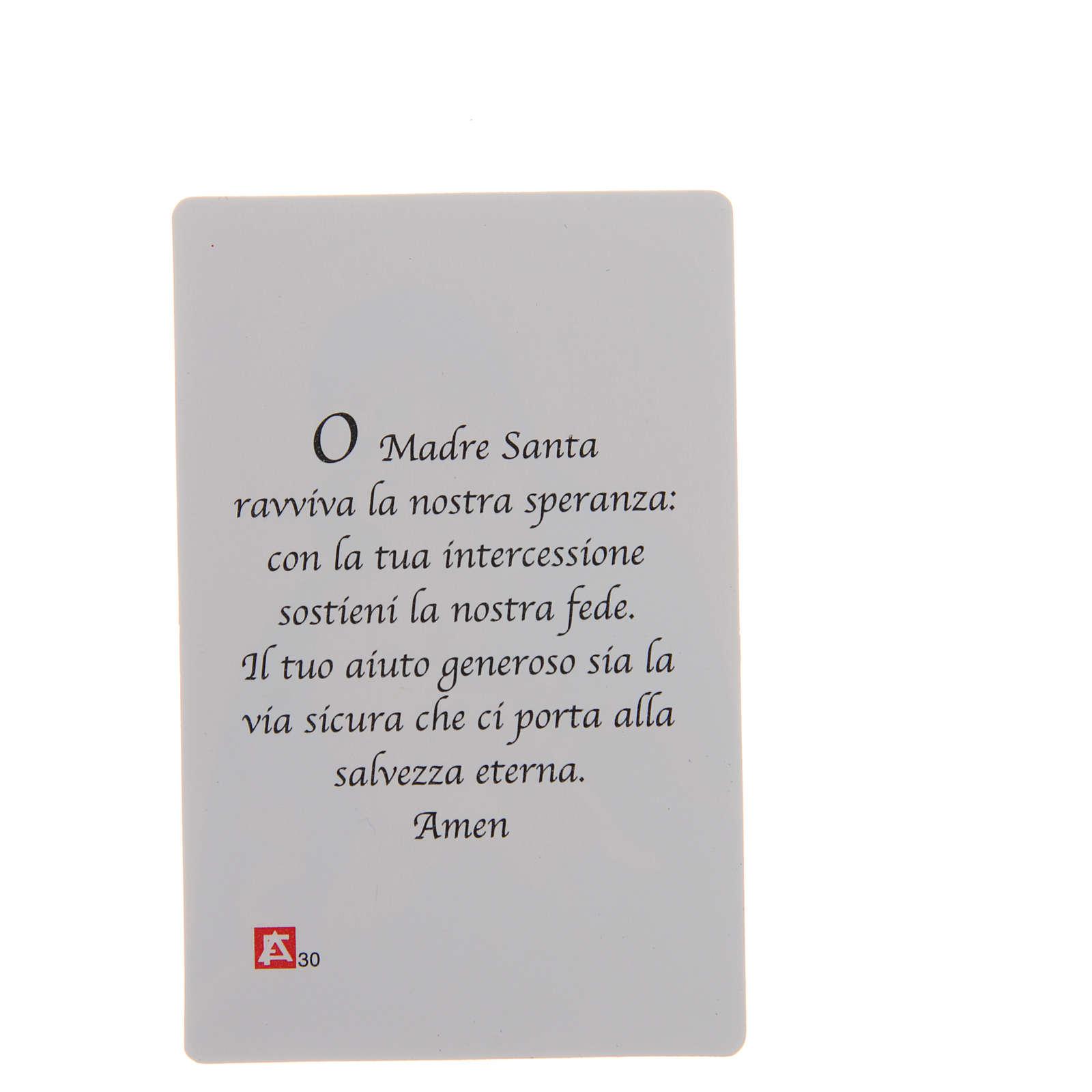 STOCK Santino Madonna Manto blu plastificato cm 8,5x5,4 4