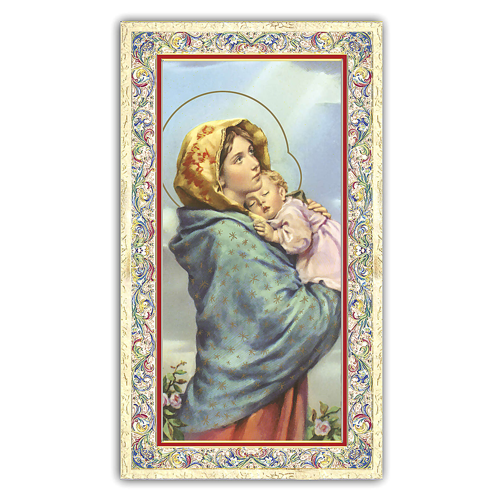 Santino Madonnina del Ferruzzi 10x5 cm ITA 4