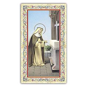 Holy card, Saint Rose of Lima, Prayer ITA 10x5 cm s1