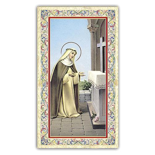 Estampa religiosa Santa Rosa de Lima 10x5 cm ITA 1