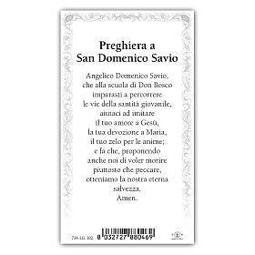 Santino San Domenico Savio 10x5 cm ITA s2
