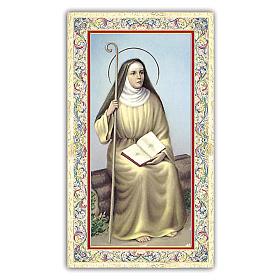 Holy card, Saint Monica, Prayer ITA, 10x5 cm s1