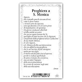Holy card, Saint Monica, Prayer ITA, 10x5 cm s2