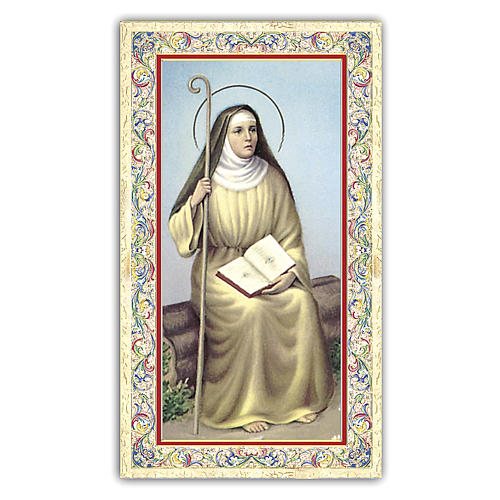 Holy card, Saint Monica, Prayer ITA, 10x5 cm 1
