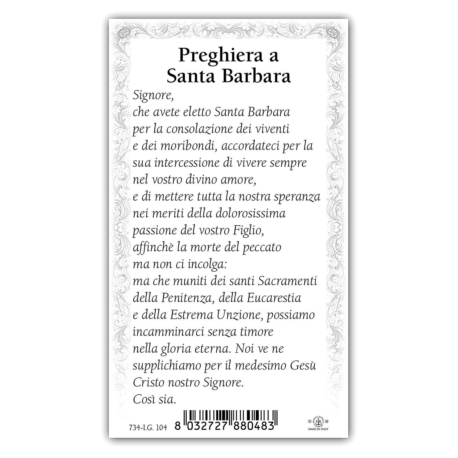 Santino Santa Barbara 10x5 cm ITA 4