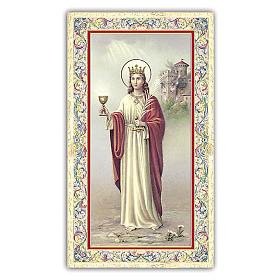 Holy card, Saint Barbara, Prayer ITA, 10x5 cm s1