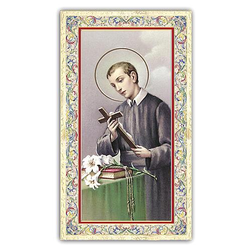 Estampa religiosa San Gerardo de la Maiella 10x5 cm ITA 1