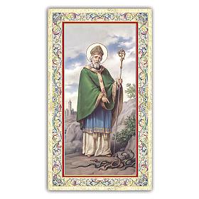 Holy card, Saint Patrick, Prayer ITA, 10x5 cm s1