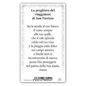 Holy card, Saint Patrick, Prayer ITA, 10x5 cm s2
