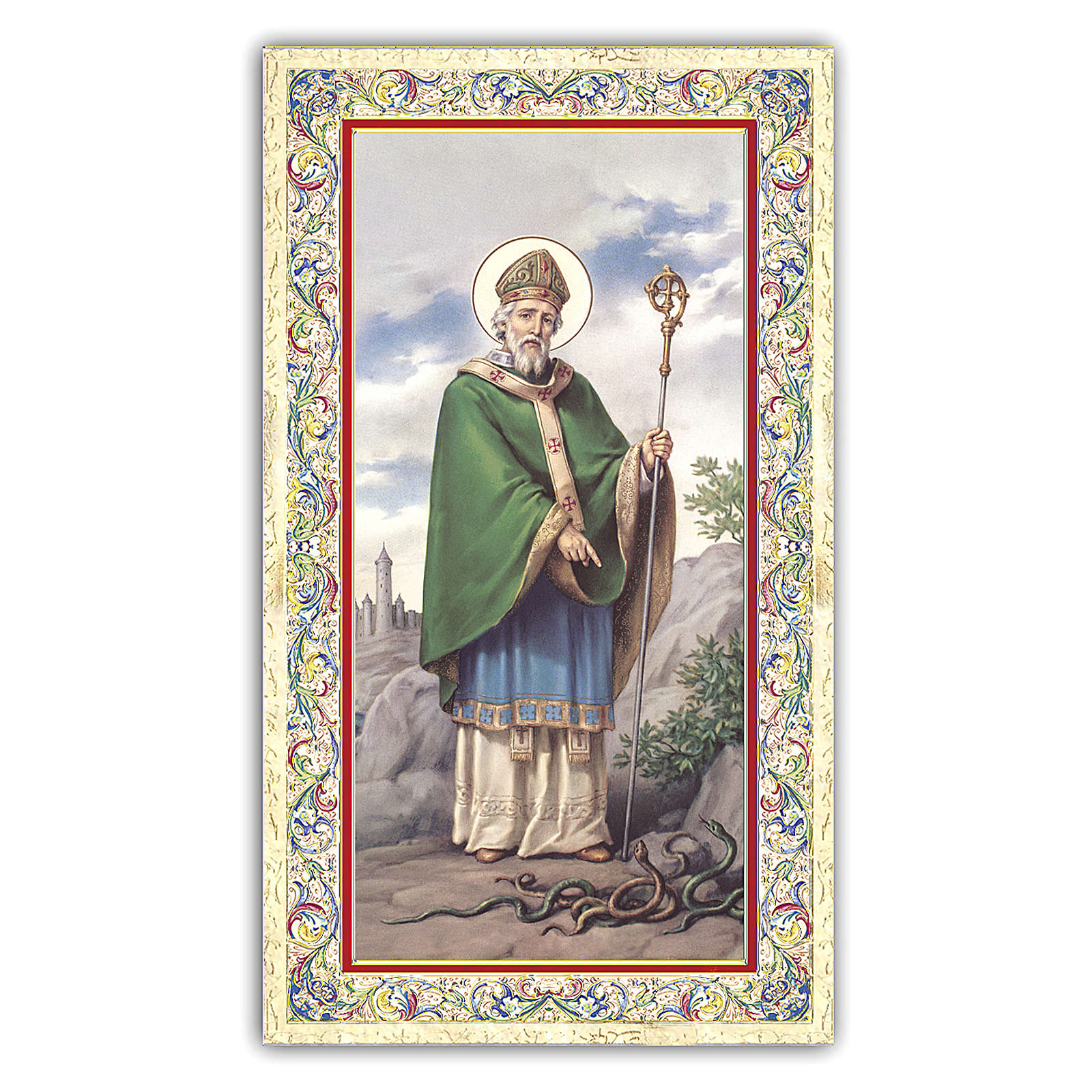 Holy card, Saint Patrick, Prayer ITA, 10x5 cm 4