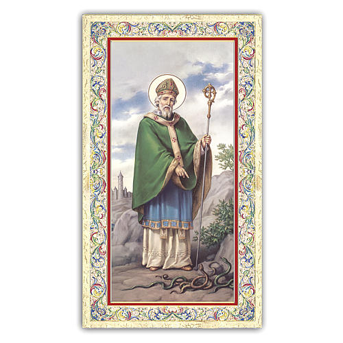 Holy card, Saint Patrick, Prayer ITA, 10x5 cm 1