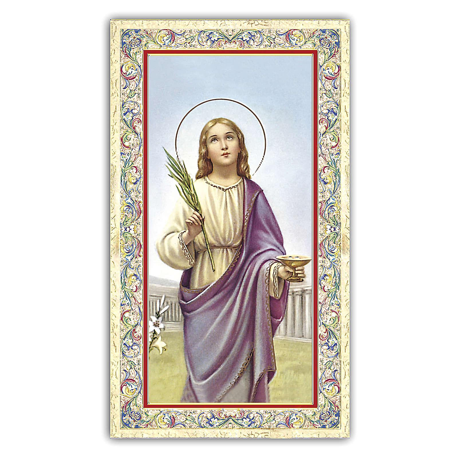 Holy card, Saint Lucy, Prayer ITA, 10x5 cm 4