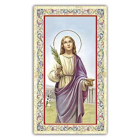 Holy card, Saint Lucy, Prayer ITA, 10x5 cm s1