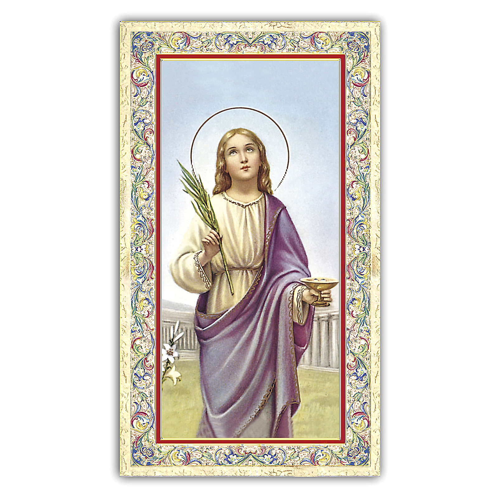 Estampa religiosa Santa Lucía 10x5 cm ITA 4